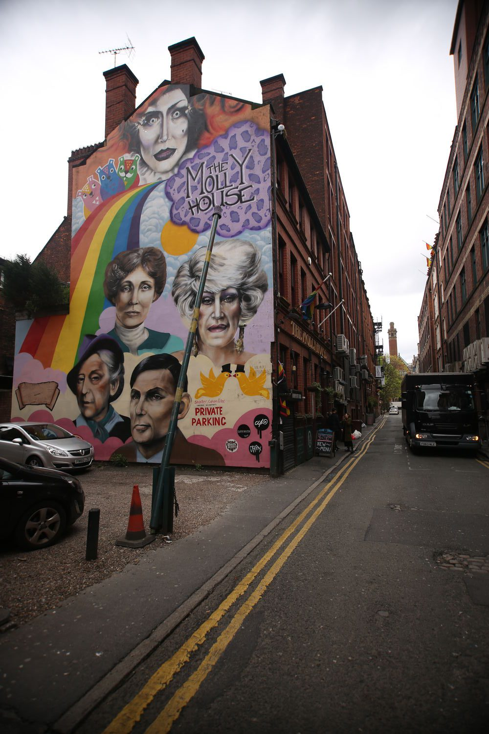MANCHESTER house wall